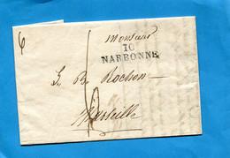 Lettre De 1824-10 NARBONNE-Pour Marseille - ....-1700: Voorlopers