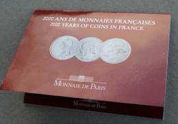 Livret - Coffret De 3 Pièces De 5 Francs - 2000 Ans De Monnaies Françaises - Malta