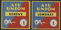 1923 - 1933 AVIATION AIR UNION (deviendra Air France En 1933) Etiquettes Bagage (Luggage Labels) - Other