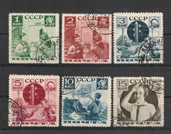 Sowjetunion - 1936 - Mi. 542-547 Gestempelt (D754) - Oblitérés