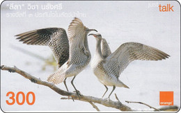 Very Nice Thailand  Phonecard  Orange  Bird Vogel - Otros