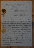 Lettre De Prisonnier De Guerre Datant De 1916 - Kriegsgefangenenlager Stuttgart 2  - (n°19086) - 1914-18