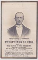 Doodsprentje Theophilus De Croo. °Nederbrakel, +Elst. Zoon Van Ghys. - Todesanzeige