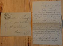Lettre De Prisonnier De Guerre Datant De 1916 Avec Enveloppe - Ecrite De Stuttgart - (n°19087) - 1914-18