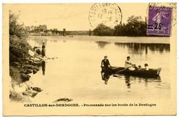 CASTILLON-sur-DORDOGNE - Promenade Sur Les Bords De La Dordogne - Voir Scan - Otros Municipios