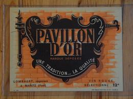 Pavillon D'or - Etiquette De Bouteille De Vin - Lombaert Négociant à Maretz (Ford) - (n°19088) - Zonder Classificatie