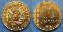 TAJIKISTAN - 10 Dirams 2015 KM# 24 Independent Republic (1991) - Edelweiss Coins - Tajikistan