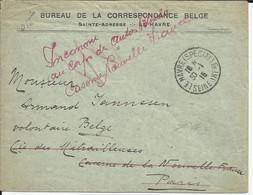 Lettre Du Havre (spécial) De 1916 Marque Manuscrite Belge Belgique - Zonder Classificatie