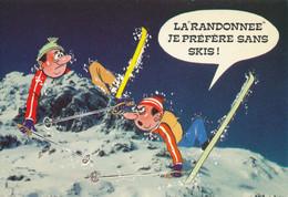 """HUMOUR : SKI - Série Neige - """"La Randonnée Je Préfére Sans Ski"""" - Humour"""