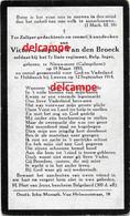 Oorlog Guerre Victor Van Den Broeck Kalmthout Soldaat Gesneuveld Te Holsbeek 1914 Wijgmaal  Leuven Herent Rotselaar - Devotion Images