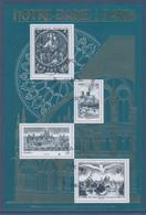 Bloc Notre Dame De Paris Oblitéré 4 Timbres Type Des Timbres 776, 1419, 4848 Et PA20 - Usati