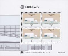PORTUGAL Block 54, Postfrisch **, Europa CEPT: Moderne Architektur 1987 - Blokken & Velletjes