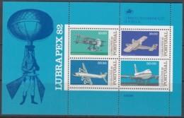 PORTUGAL Block 37, Postfrisch **, Briefmarkenausstellung LUBRAPEX '82, Lissabon: Flugzeuge 1982 - Blokken & Velletjes