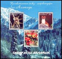 Kazakhstan 2002 Bl. MNH Flora And Fauna Of Trans-Ili Alatau  Animals Mountains Forest Trees Fruits Apples - Non Classificati