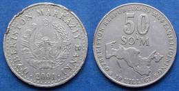 UZBEKISTAN - 50 So'm 2001 KM# 15 Independent Republic (1991) - Edelweiss Coins - Uzbekistan