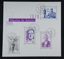France 2020 General De Gaulle 1890-1970 Bloc Salon Philathélique D'automne -oblitéré - Gebraucht