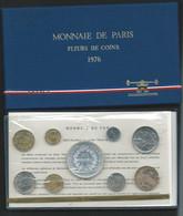 1976 COFFRET SERIE FLEURS DE COINS MONNAIE DE PARIS FDC AVEC 50 FRANC HERCULE ARGENT BU  Laupi 143 - Z. FDC