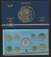 1978 COFFRET SERIE FLEURS DE COINS MONNAIE DE PARIS FDC AVEC 50 FRANC HERCULE ARGENT BU  Laupi 144 - Z. FDC