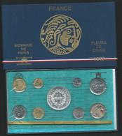 1977 COFFRET SERIE FLEURS DE COINS MONNAIE DE PARIS FDC AVEC 50 FRANC HERCULE ARGENT BU  Laupi 146 - Z. FDC