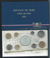 1975 COFFRET SERIE FLEURS DE COINS MONNAIE DE PARIS FDC AVEC 50 FRANC HERCULE ARGENT BU  Laupi 147 - Z. FDC
