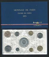 1974 COFFRET SERIE FLEURS DE COINS MONNAIE DE PARIS FDC AVEC 50 Francs  HERCULE ARGENT BU Laupi 149 - Z. FDC