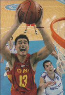 Yao Ming, China, Basketball - Flag Bearer 2004 Athens Olympic Games - Modern Card From China (South China Morning - Estate 2004: Atene