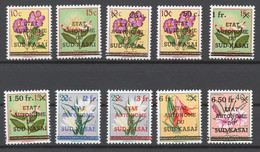 South-Kasai 1961 Mi# 1-11** DEFINITIVES, FLOWERS - South-Kasaï