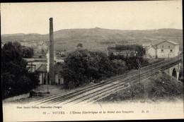 CPA Vittel Vosges, L'Usine Electrique Et Le Mont Des Soupirs - Autres Communes