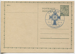 Böhmen Und Mähren Ganzsache P1 Sonderstempel Iglau 18.5.41 Kriegsmuttertag, Blanko - Storia Postale