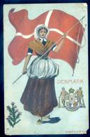 Cpa National Flag Danemark -- Denmark     AVR20-02 - Denmark