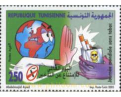 Ref. 189611 * MNH * - TUNISIA. 2005. WORLD DAY WITHOUT TOBACCO . DIA MUNDIAL SIN TABACO - Tunisia