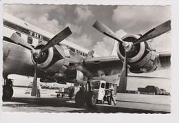Vintage Rppc KLM K.L.M. Royal Dutch Airlines Douglas Dc-6 @ Schiphol Airport - 1919-1938: Between Wars