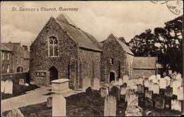 CPA Guernsey Kanalinseln, St. Samson's Church, Friedhof - Other