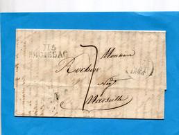 Lettre Du 130 MAI 1829-II5 MOISSAC-Pour Marseille - ....-1700: Voorlopers