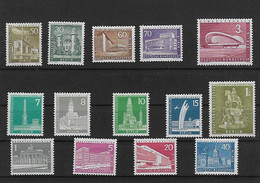 Berlin 1956/1957 Lot Of Vf Stamps Set MH* - Nuovi
