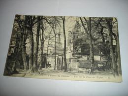 CPA - LAIGLE L'AIGLE ( ORNE NORMANDIE MORTAGNE ) - ENTREE DU CHATEAU - VUE SUR LA PLACE DE L'EGLISE ( 1928 ) - L'Aigle