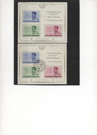 """CHYPRE.1965.DEUX BF3.""""J.F.KENNEDY"""". NEUF**. OBLITERE.THEME PERSONNAGES CELEBRES.HISTOIRE. - Unused Stamps"""