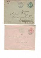 Lot De 2 Entiers Postaux, Indes Néerlandaises.  Semarang => Zandvoort 1922 + Batavia => Buitenzorg 1931 - Nederlands-Indië