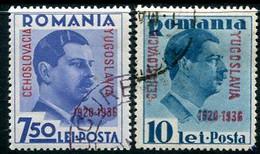 ROMANIA 1936 Little Entente Set Used.  Michel 522-23 - Usado