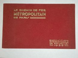 Le Chemin De Fer Métropolitain De Paris / Exposition Internationale De Bruxelles 1935, Locomotives, Bus, Métro. 48 Pages - Tourism