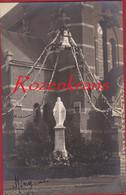Oude (unieke?) Fotokaart Hingene Heilig Hart Beeld Standbeeld Jezus Bornem Bornhem Kerk (in Zeer Goede Staat) - Bornem