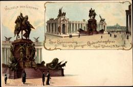 Entier Postal Lithographie PP 9 C 19 02, Berlin, 100jh Geburtstagsfeier 1897, Kaiser Wilhelm Der Große - Altri