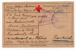 1917. WWI, AUSTRIA,KATZENAU,POW CAMP,CARD SENT TO PARIS RED CROSS OFFICE,CENSORED IN VIENNA - Storia Postale