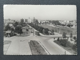 Skopje - Makedonija / Macedonia (Yugoslavia), Street, Old Bus / Autobus, Postcard Traveled 1955  (Y3) - Macedonia