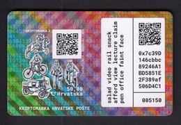Croatia 2020 / BICYCLE / Crypto Stamp 2, Kriptomarke 2 / History Of The Transfer Of Postal Items / MNH - Croatia