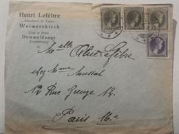 Enveloppe, Henri Lefèvre, Weimerskirch Oblitéré Dommeldange 1930 - Covers & Documents