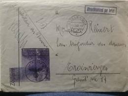 Enveloppe, Oblitéré Ettelbruck 1945 Envoyé à Troisvierges. WW2 - 1940-1944 German Occupation