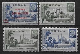 Sénégal 1941/44 - Lot Comprenant Les N° 177, 178 - 187, 188 ,  Neuf ** - Unused Stamps