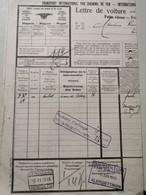 Lettre De Voiture Avec Cachet Chemin De Fer Kleinbettingen Et Timbre - Postage Due