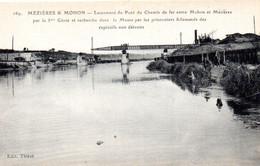 CPA MEZIERES Et MOHON 08 Lancement Du Pont Du Chemin De Fer - Charleville